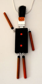 Domino Man Necklace