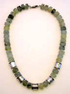 Prehnite & Sterling Necklace