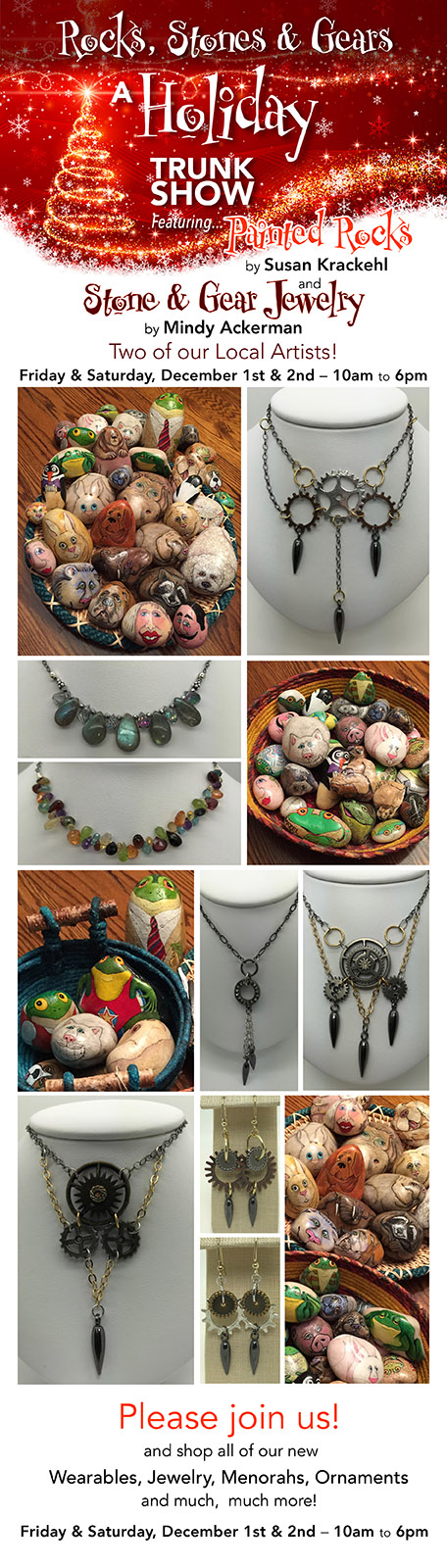A Holiday Trunk Show - Stone and Gear Jewelry